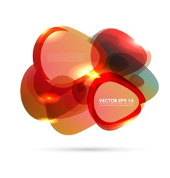color background abstract circles vector image vector image