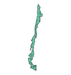 Dotted line map of chile vector