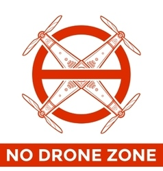 drone prohibited sign vector image vector image
