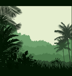 Exotic tropical background beautiful vector