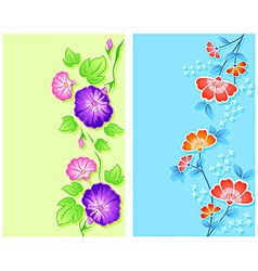 Floral curtains vector