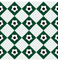 Football Ball Green White Chess Board Diamond vector image