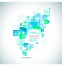 futuristic brochure cover vector image