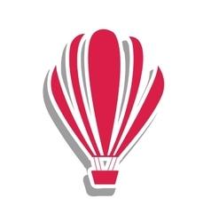 Hot air balloon pictogram image vector