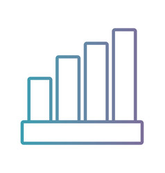 Line statistics diagram bar to histogram vector