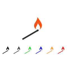 Match ignition icon vector