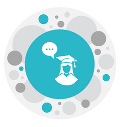 of teach symbol on graduate vector image