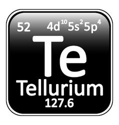 Periodic table element tellurium icon vector