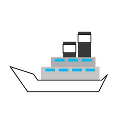 sea boat transport delivery vehicle logistic vector image