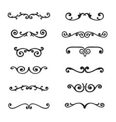 set of flourishes calligraphic elegant ornament vector image vector image