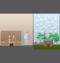 Spa aqua therapy concept in vector