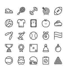 Sports colored icons 7 vector
