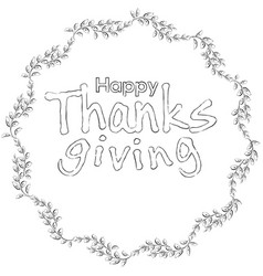 Thanksgiving floral frame vector