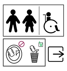 Toilett signs set vector