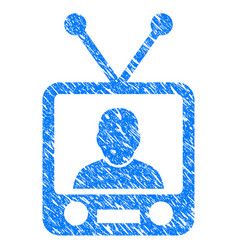 tv news grunge icon vector image