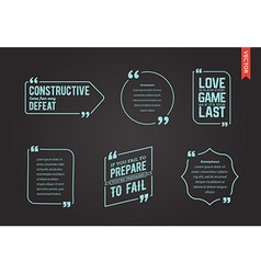 Typographic quote template template set trendy vector