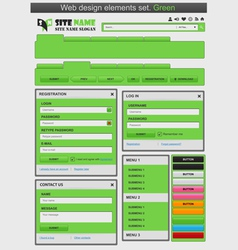web design elements set green vector image