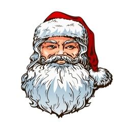 Portrait Santa Claus Christmas vector image