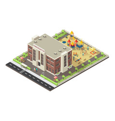 colorful isometric children playground concept vector image