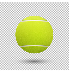 Realistic flying tennis ball closeup vector