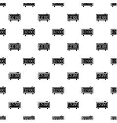 alarm clock pattern vector image