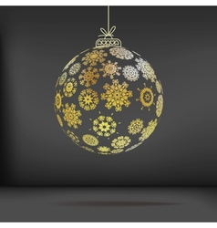 Christmas ball made from snowflakes  eps10 vector