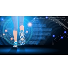 Technology sport background vector image