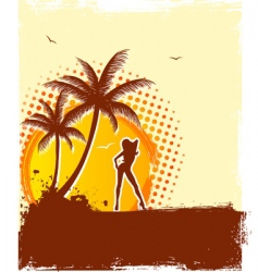Tropic girl vector
