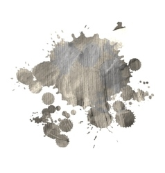 Dirty watercolor spot for design vector