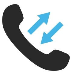 Phone talking flat pictogram vector