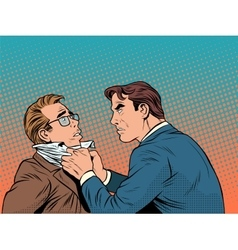 Conflict men fight quarrel businessman vector