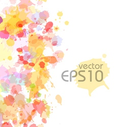 Abstract watercolor blobs background vector