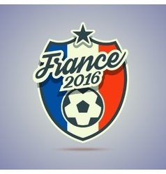 France 2016 soccer badge vector