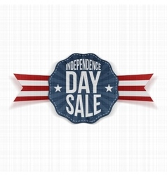 Independence day sale vintage label vector