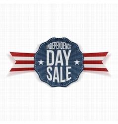 Independence Day Sale vintage Label vector image