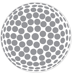 a golfball outline isolated in white background vector image