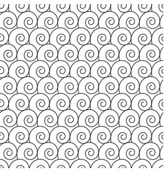 Abstract hand drawn outline spiral curl seamless vector