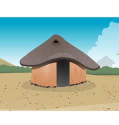 African hut village vector image