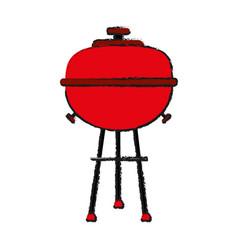 Bbq barbecue grill icon image vector