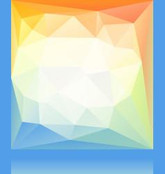 bright orange blue green spring happy mood low vector image vector image
