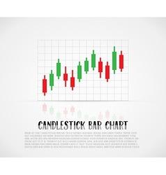 Candlestick bars vector