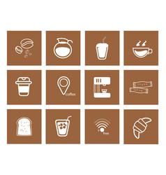 coffee icon set vector image vector image