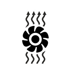 Exhaust fan ventilation icon vector