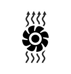 exhaust fan ventilation icon vector image