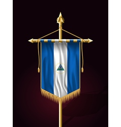 Flag of nicaragua festive vertical banner vector