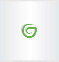 g letter logo green icon symbol design vector image vector image