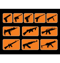 Illustrated guns vector