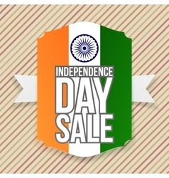 India independence day sale emblem vector