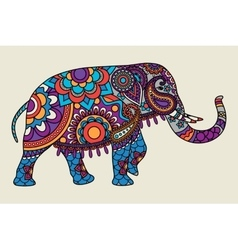 Indian ornate elephant colored illistration vector image vector image