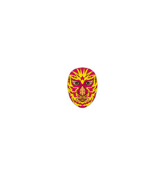 Luchador mask star lightning bolt drawing vector